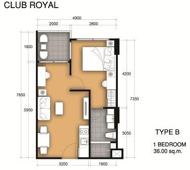 36 sqm 1 Bedroom