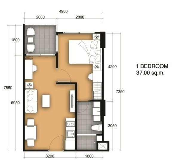 37 Sqm Room Plan