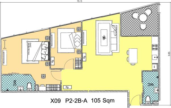 Room plan 105sqm