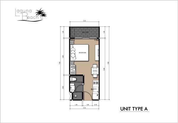 24 sqm Room Plan
