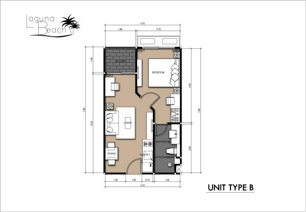 36sqm Room Plan