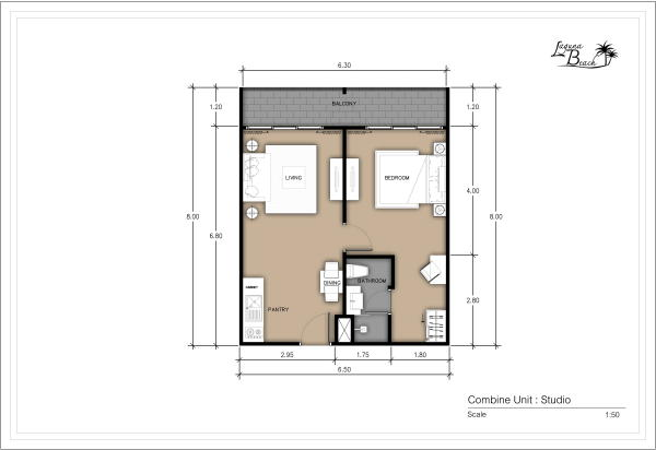 48 sqm Room Plan