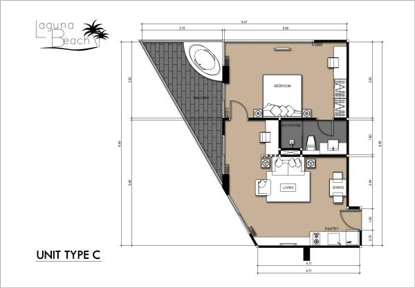 70 sqm Room Plan