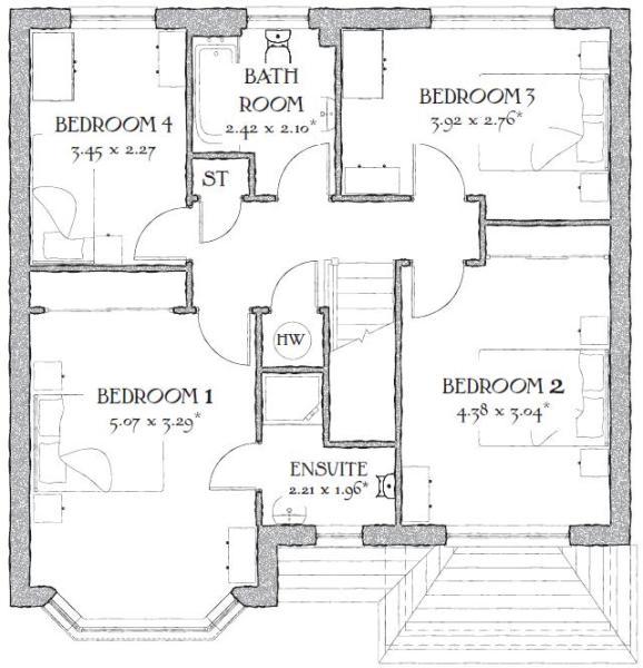4 bedroom detached house for sale in buckshaw village for Oxford floor plan