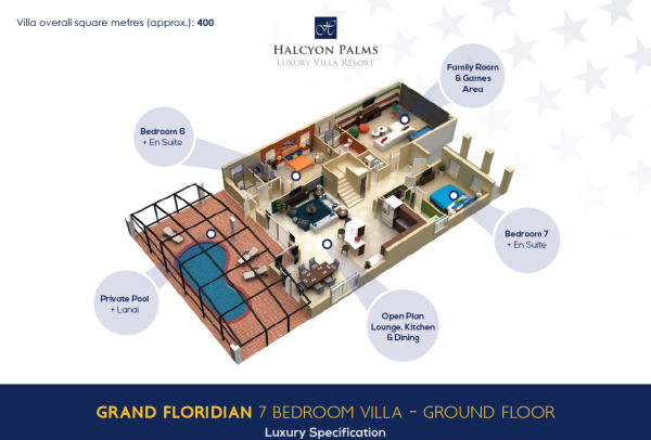 7 bed - Ground floor