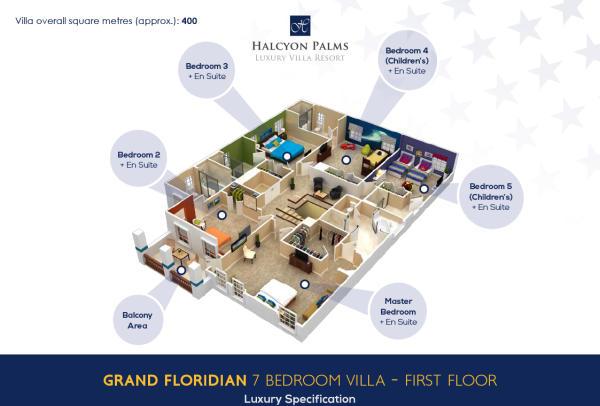 7 bed - First floor