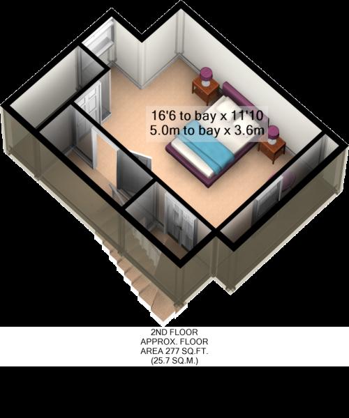 2ND FLOOR 3D PLAN
