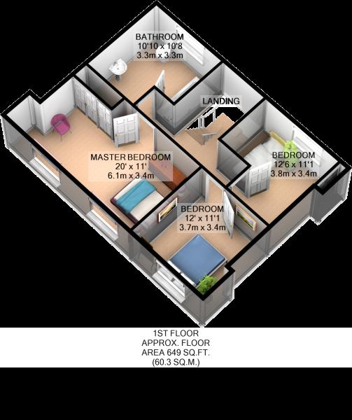 Ist Floor 3D Plan