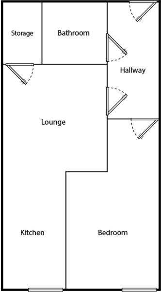 Example of a 1 Bed