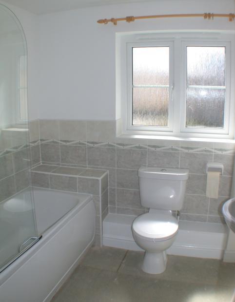 cornflower bathroom