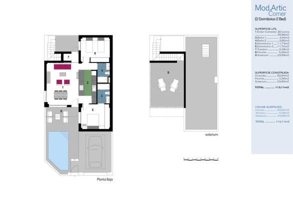 2 bedroom Semi detached villa in Formentera Del Segura, Alicante
