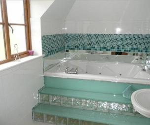 photo of turquoise white bathroom ensuite ensuite bathroom