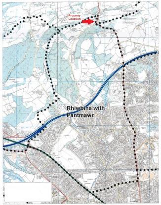 Rhiwbina with Pantmawr Ward boundary