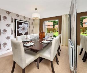 Wallpaper dining room design ideas photos inspiration for Wallpaper for dining room feature wall