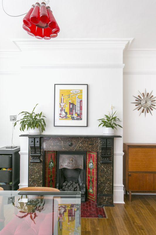 dining fireplace