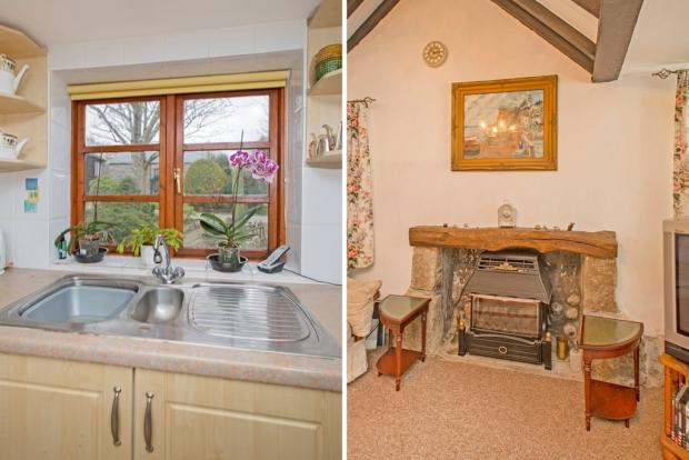 Sink/Fireplace