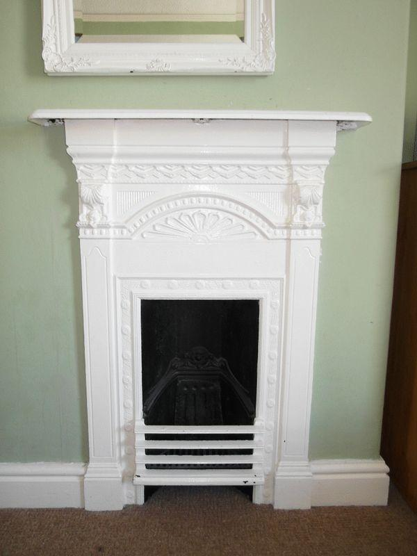 How To Paint A Cast Iron Fireplace White