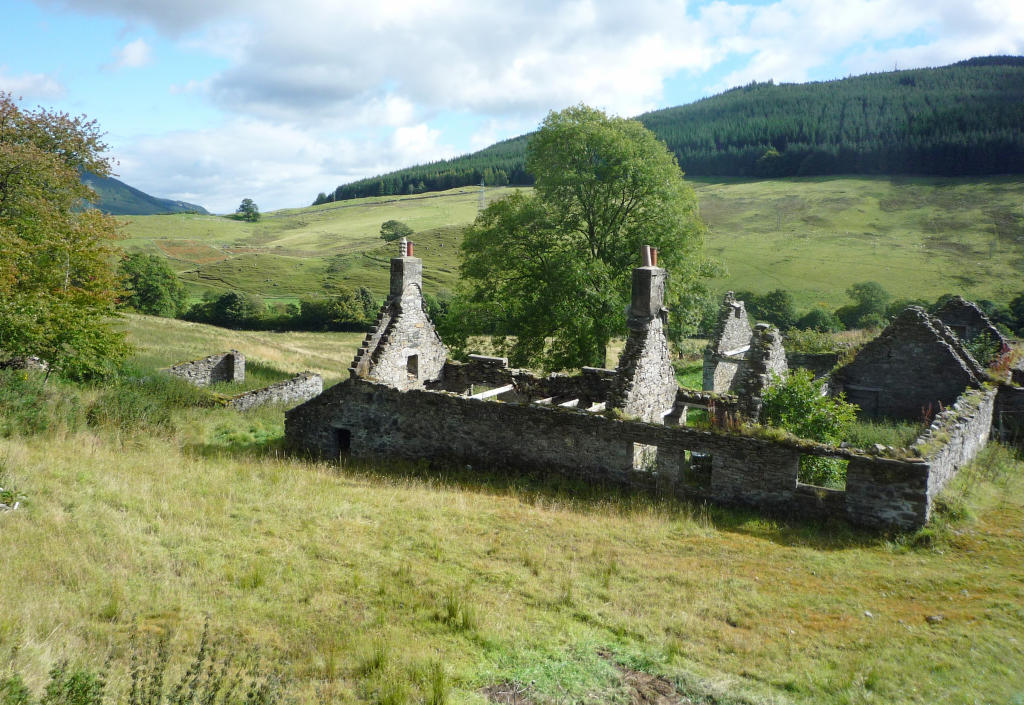 Ruins in Drumcharry, Fortingall...