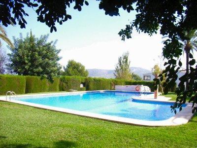 Gardens & pool!