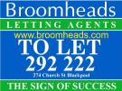 Broomheads Letting Agents , Blackpool branch logo