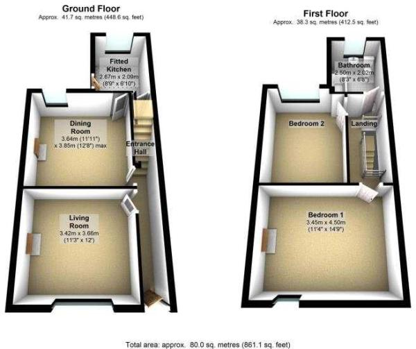 Stockport Road, Cheadle 3D floor plans