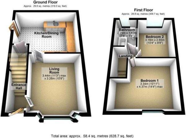 18 Berwyn Avenue, Cheadle Hulme 3D floor plan
