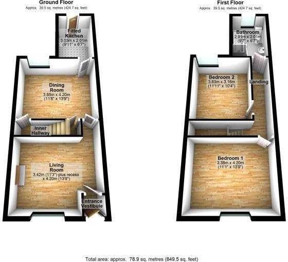32 Heathside Road 3D floor plans