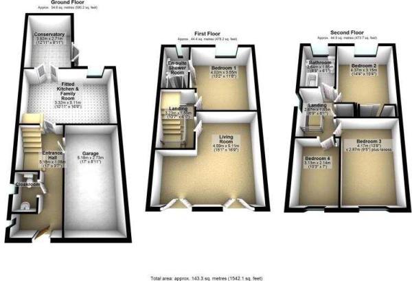 3 Abbeydale Close, Cheadle Hulme 3D floor plans