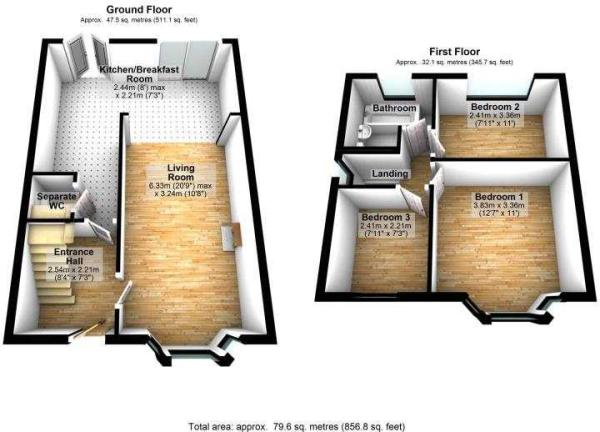 1 Carrs Avenue 3D floor plans