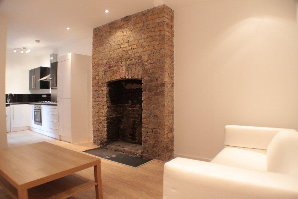 Wonderful Exposed Brick Chimney In Kitchen For The Home