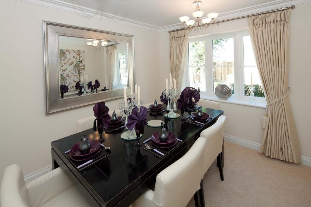 Beige Mirrors Dining Room Design Ideas Photos
