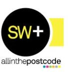 allinthepostcode.com, SW+ branch logo