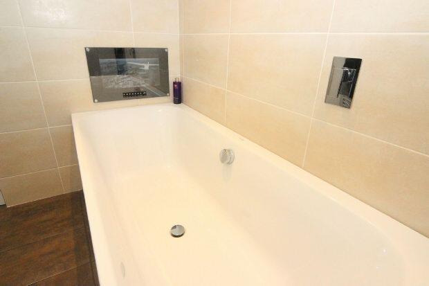 Bath with TV