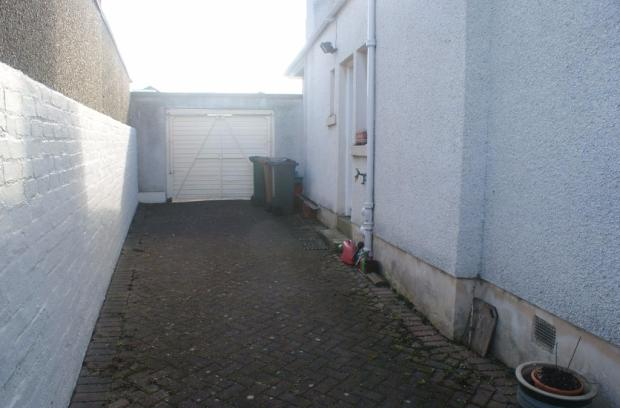 View from garage