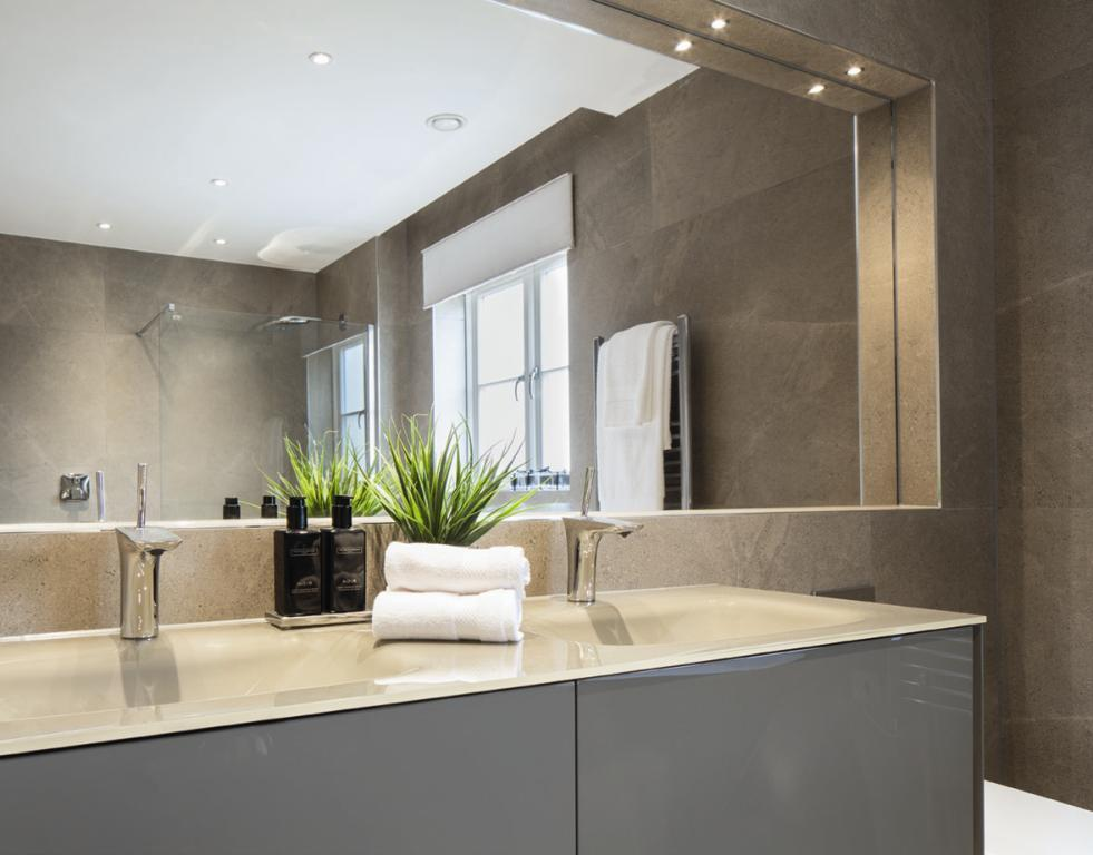 3 bedroom apartment for sale in plot 3 eltham house mill for Show home bathrooms