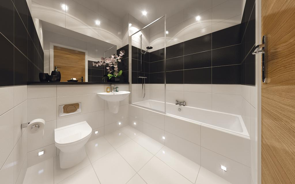 Beige black bathroom design ideas photos inspiration for Beige and black bathroom ideas