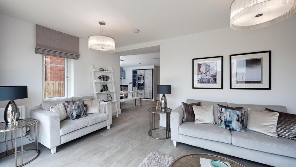 Typical family room Rosebury Avant Homes