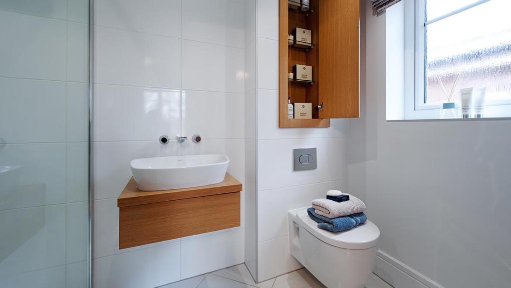 En suite Avant Homes full height tiling