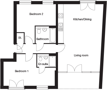 Taylor-Wimpey-C4C-2 bedroom-ground-first-second-floor-plan