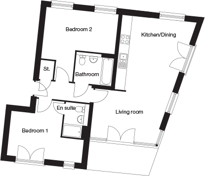 Taylor-Wimpey-C4D-2 bedroom-ground-first-second-floor-plan