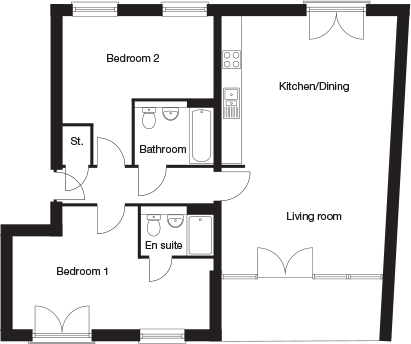 Taylor-Wimpey-C2B-2 bedroom-ground-first-second-floor-plan