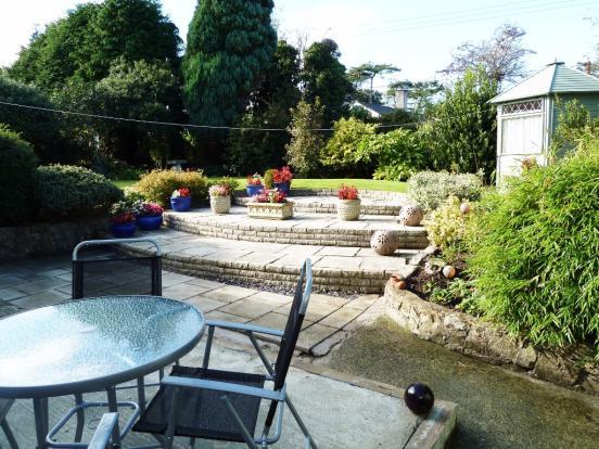 Neat rear garden