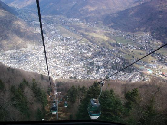 Luchon from ski lift