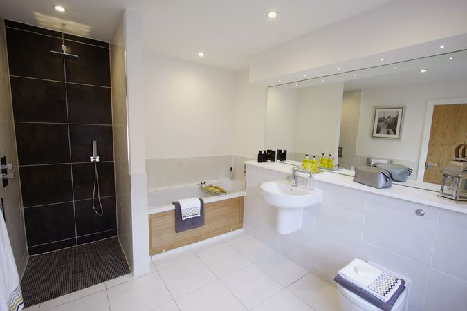 5 bedroom detached house for sale in all sold plot 17 for Show home bathrooms