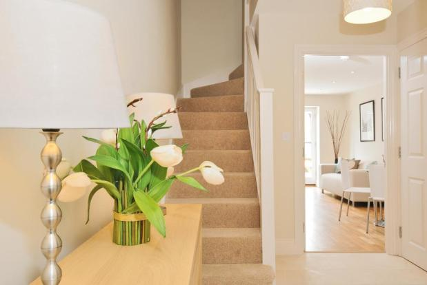Attractive entrance hall with stone floor