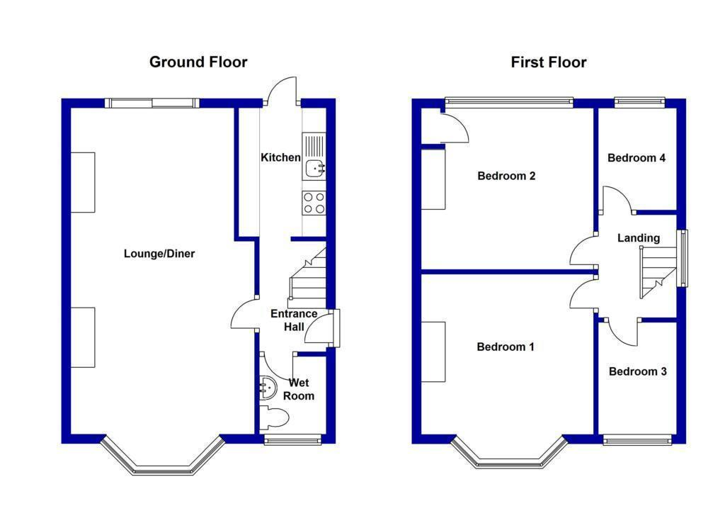 4 bedroom semi detached house for sale in westbrooke road for Floor plans for a semi detached house extension