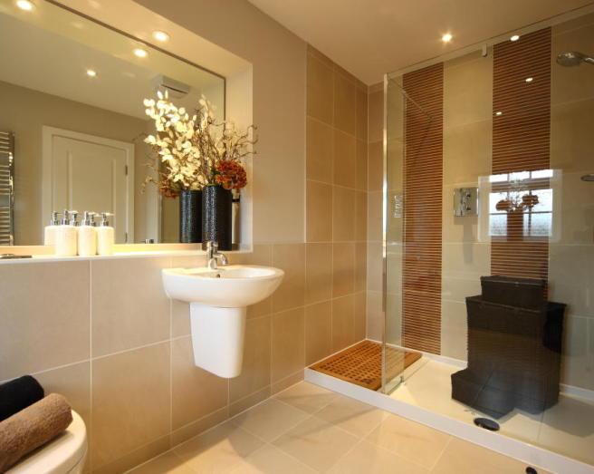 Shower tiles design ideas photos inspiration for Brown and beige bathroom ideas