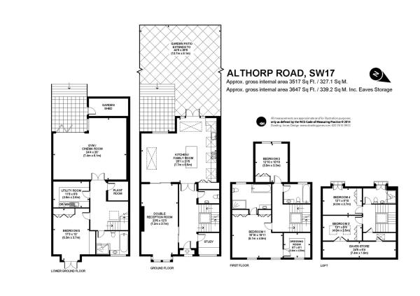 5 bedroom terraced house for sale in althorp road ground floor floor plans and floors on pinterest