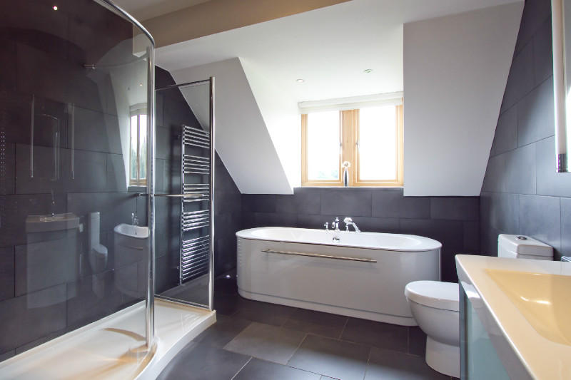 Grey bathroom design ideas photos inspiration for Grey modern bathroom design