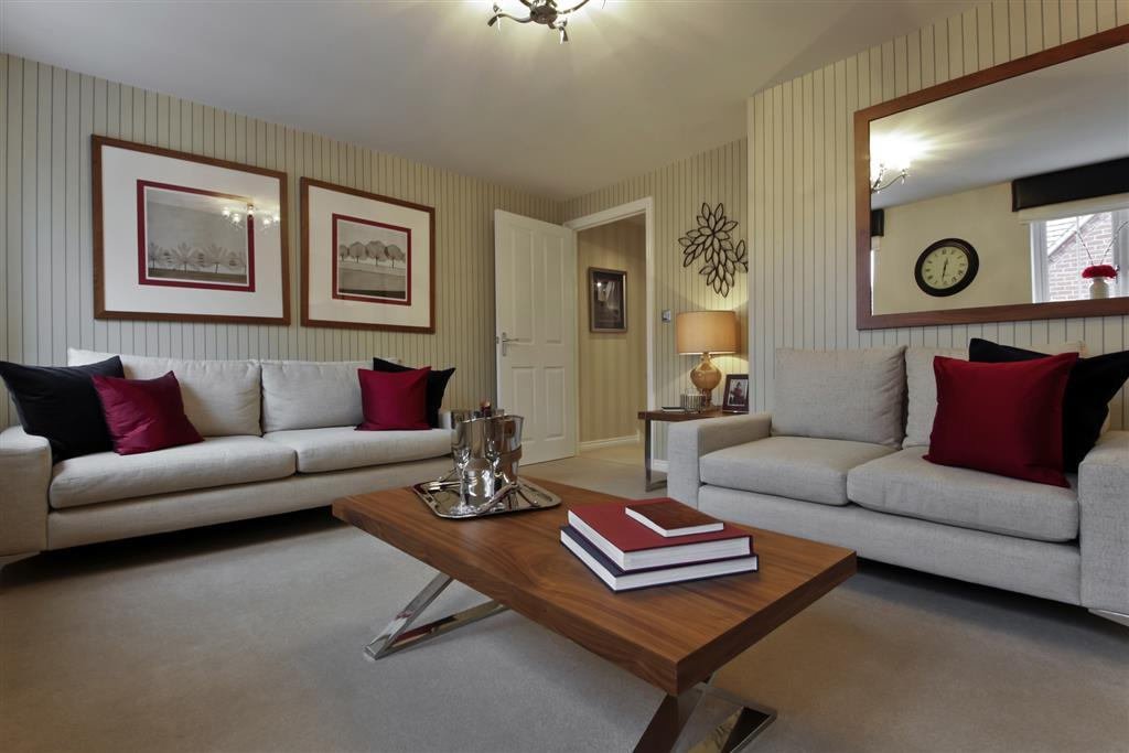 A Typical Taylor Wimpey Showhouse Lounge